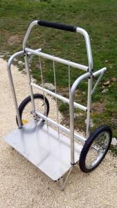 diable roues 16 pouces brouette alu pour terrains sinueux
